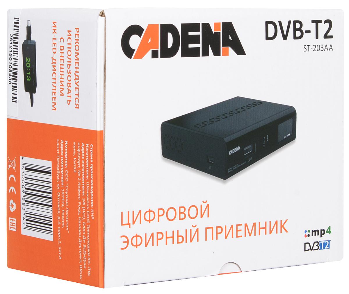 Cadena ST-203AA DVB-T2 ТВ-тюнер