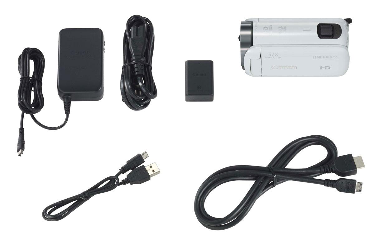 Canon LEGRIA HF R706, White цифровая видеокамера