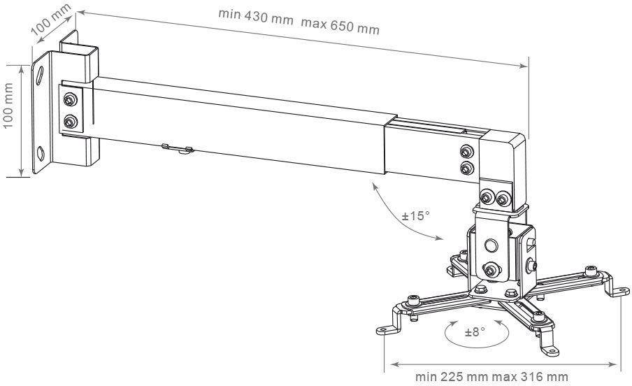 Arm Media Projector-3, Black настенный кронштейн для проекторов