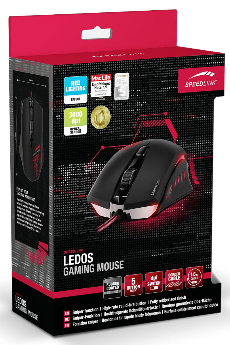 Speedlink Ledos, Black мышь игровая