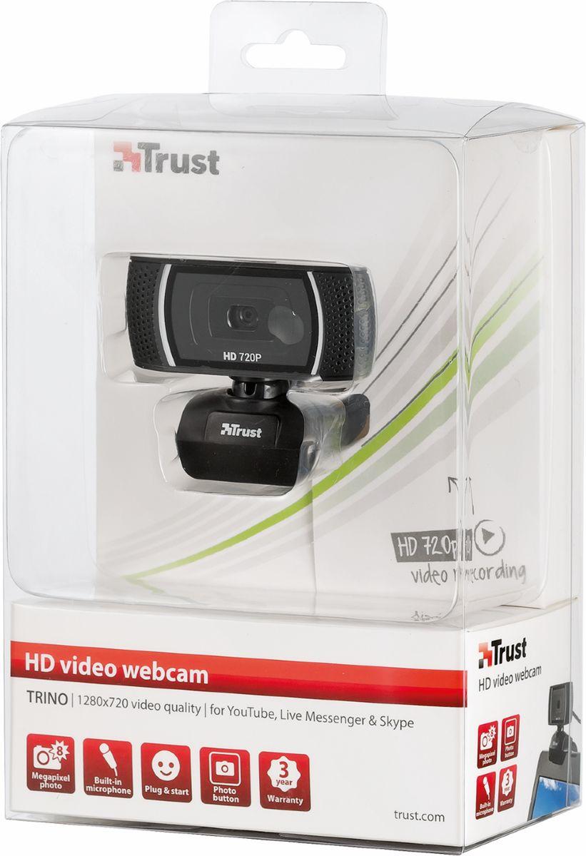 Trust Trino HD Video Webcam, Black web-камера