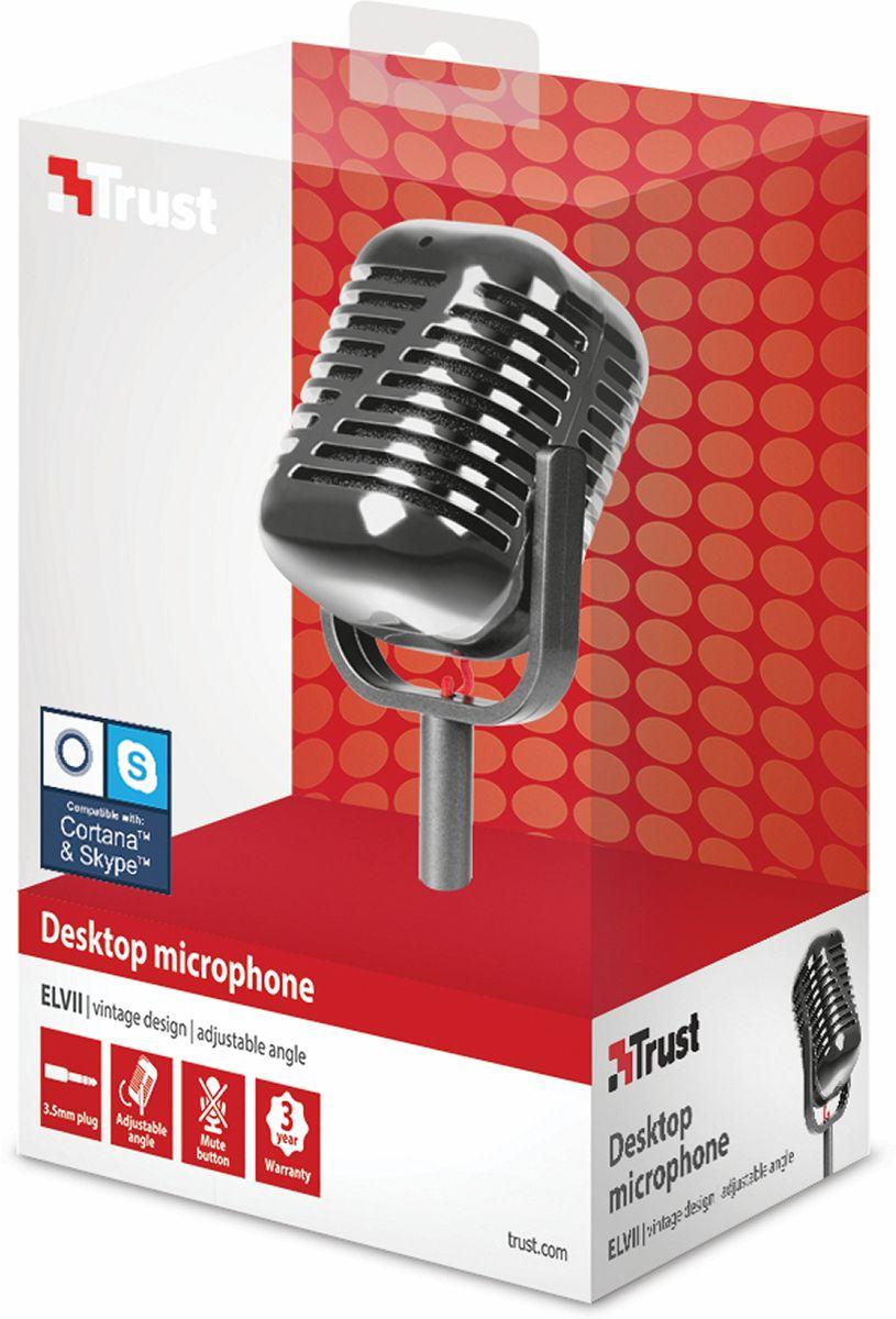 Trust Elvill Desktop Microphone, Black микрфон