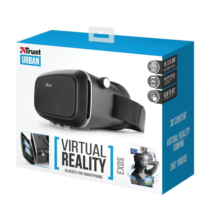 Trust Exos Virtual Reality Glasses, Black очки виртуальной реальности