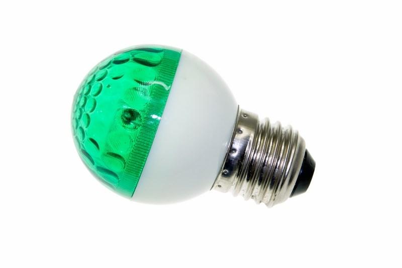 "Лампа строб ""Neon-Night"", цоколь Е27, цвет: зеленый, диаметр 50 мм"