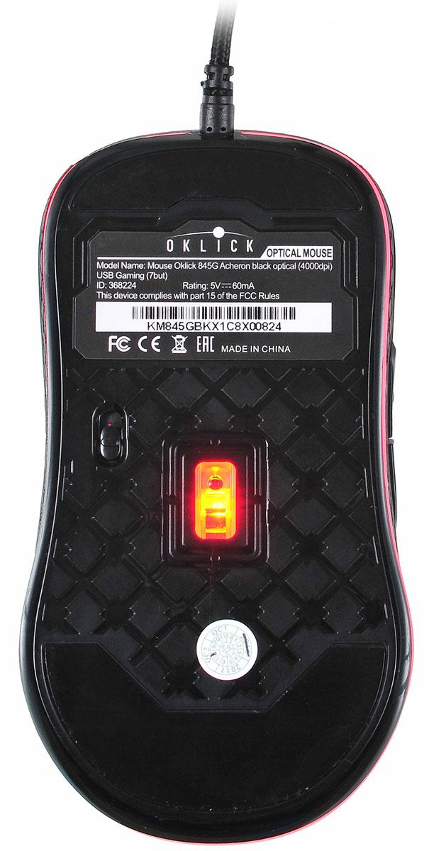 Oklick 845G Acheron, Black игровая мышь