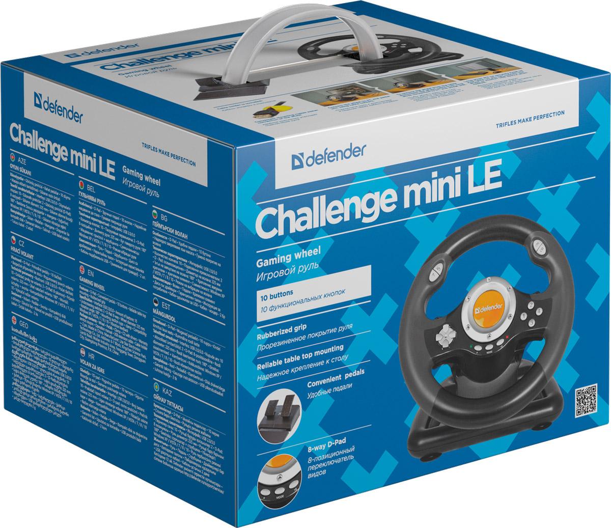 Defender Challenge Mini LE (USB) руль игровой
