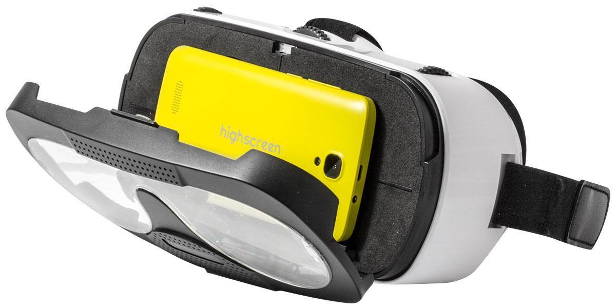 Highscreen VR-glass, White Black очки виртуальной реальности