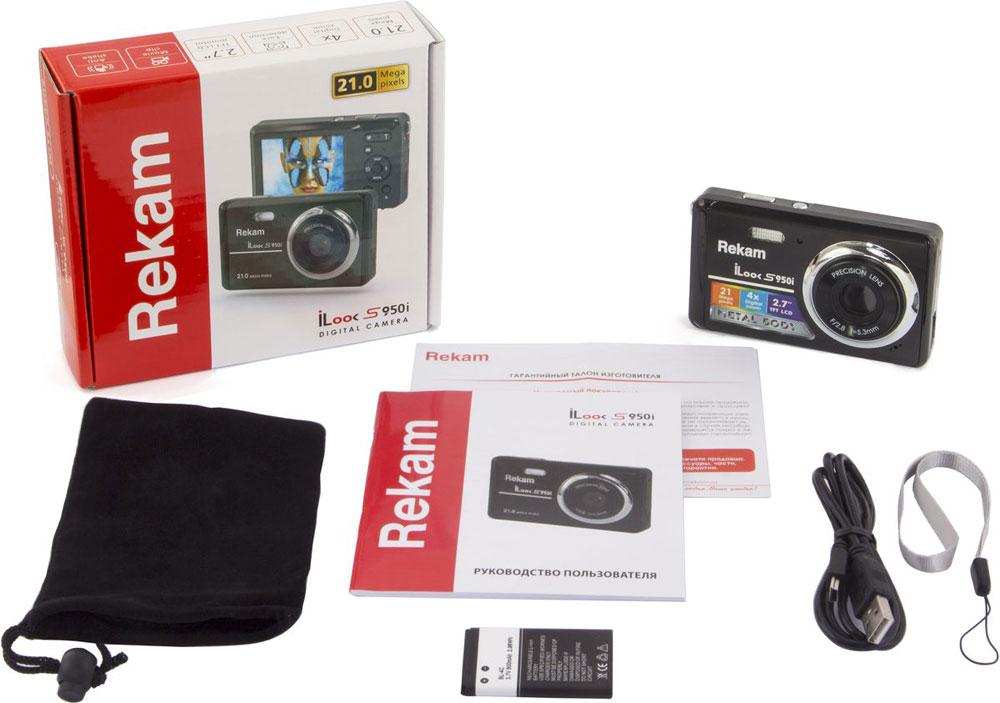 Rekam iLook S950i, Black цифровая фотокамера