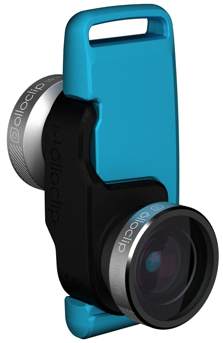 Olloclip 4-in-1, Silver Black накладной объектив для iPhone SE/5/5s