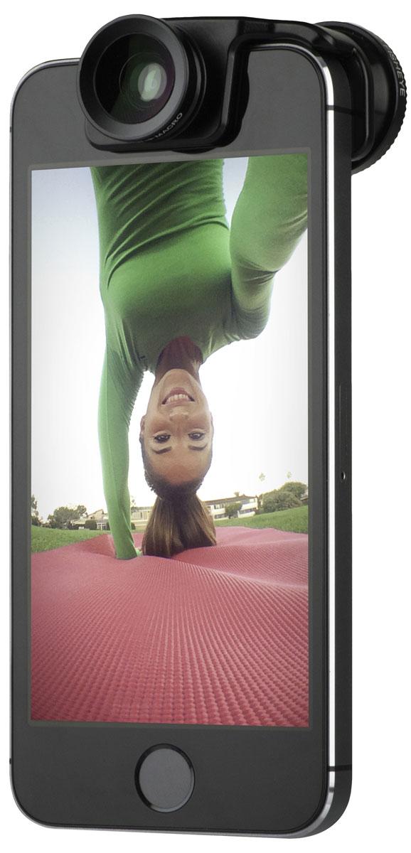 Olloclip Selfie 3-in-1, Black накладной объектив для iPhone 5/5s
