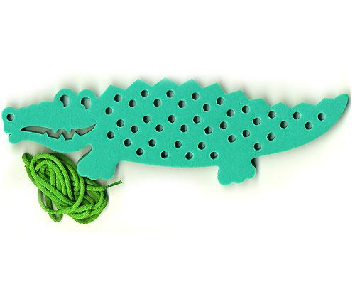 "Игра-шнуровка ""Крокодил"""