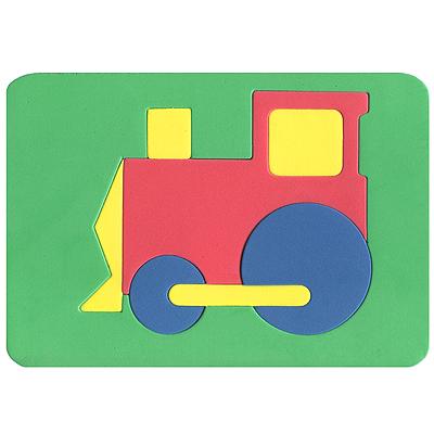 Бомик Пазл для малышей Паровоз цвет основы синий102Мягкая мозаика выполнена в виде яркого паровоза. Мозаика изготовлена из мягкого, прочного материала, который обеспечивает большую долговечность и является абсолютно безопасным для детей. Мягкая мозаика развивает у ребенка память, воображение, моторику, пространственное и логическое мышление. Обучение происходит прямо во время игры!