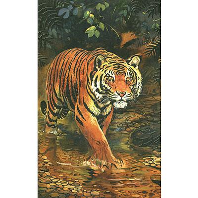 Тигр. Бархатный пазл, 70 элементов