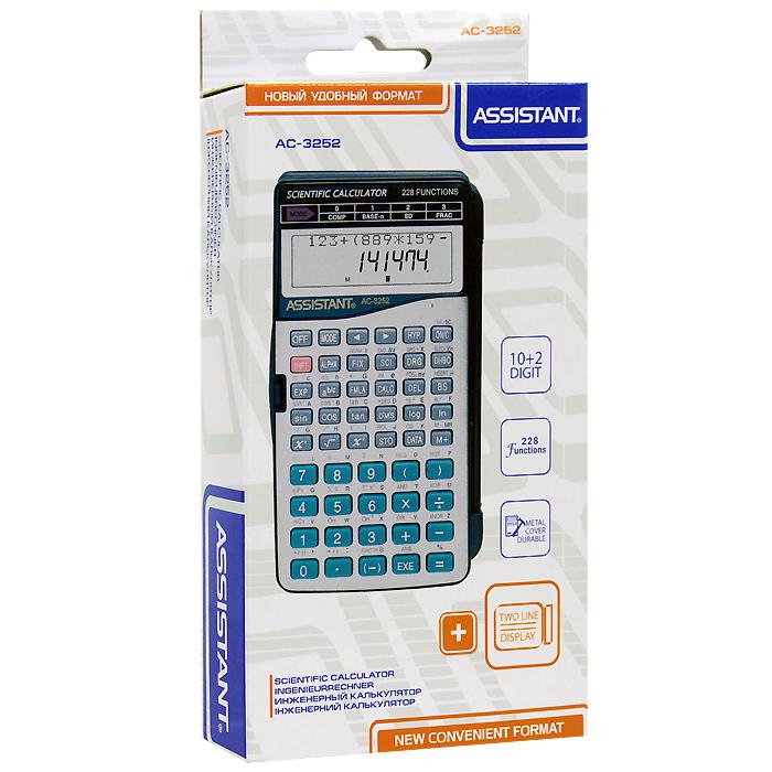 """Калькулятор инженерный """"Assistant AC-3252"""", 228 функций"""