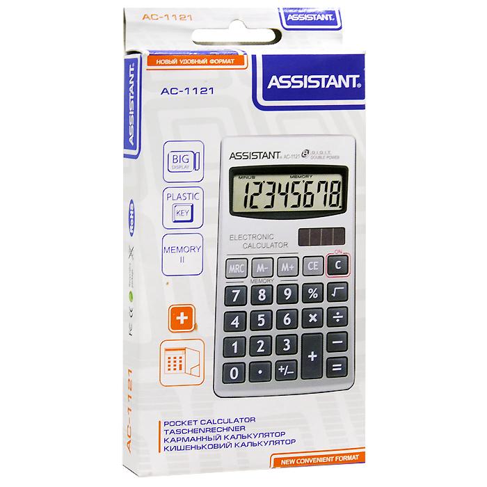 """Калькулятор """"Assistant AC-1121"""", 8-разрядный"""