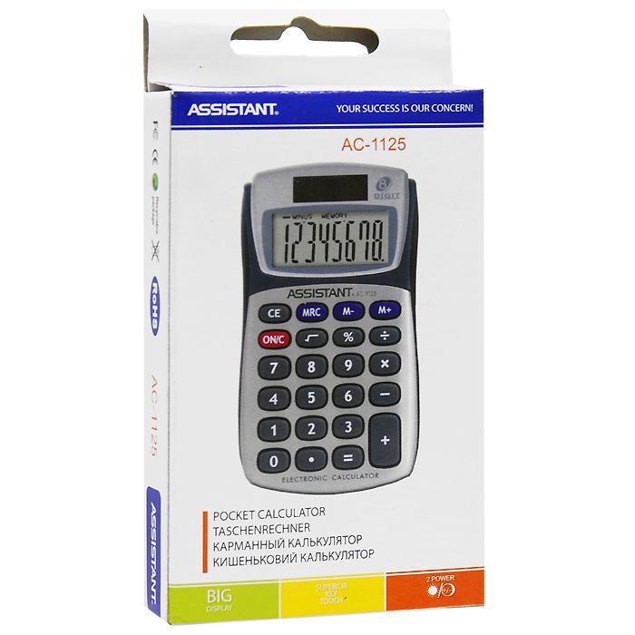 """Калькулятор """"Assistant AC-1125"""", 8-разрядный"""