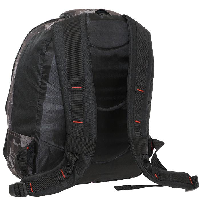 Рюкзак школьный `Action`, цвет: черный, хаки