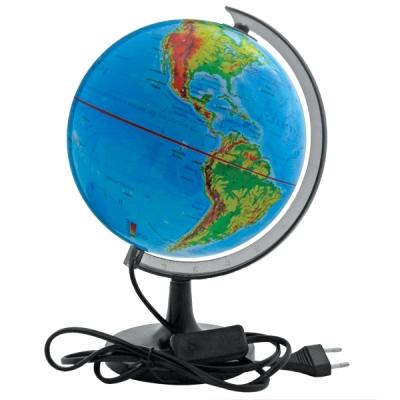 """Глобус """"Rotondo"""" с физической картой мира, с подсветкой. Диаметр 32 см"""