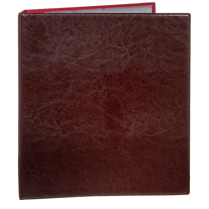 """Визитница """"Panta Plast"""", на 200 визиток, цвет: бордовый"""