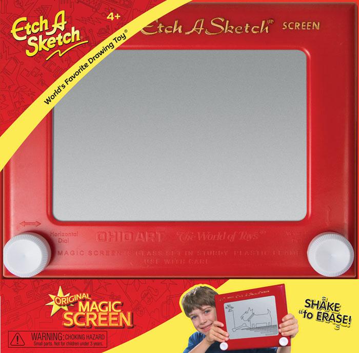 """Волшебный экран """"Etch-A-Sketch"""", 19 см, цвет: красный ( 505 )"""