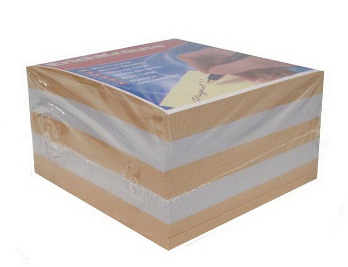 """Бумага для заметок """"Erich Krause"""", цвет: персиковый, белый, 9 см х 9 см х 9 см"""