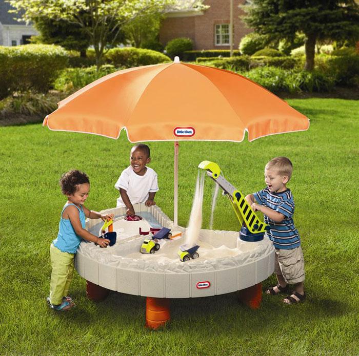 Стол-песочница с зонтом и зоной для воды Little Tikes