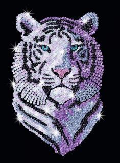 """Мозаика из пайеток """"Снежный тигр"""""""
