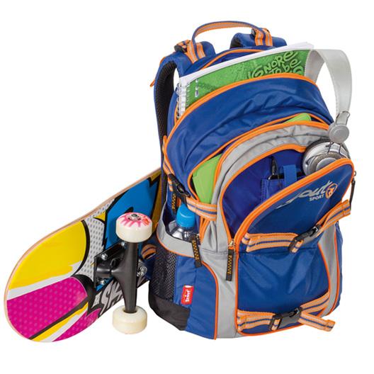 Рюкзак Scout `Backpack Skate`, цвет: синий, оранжевый
