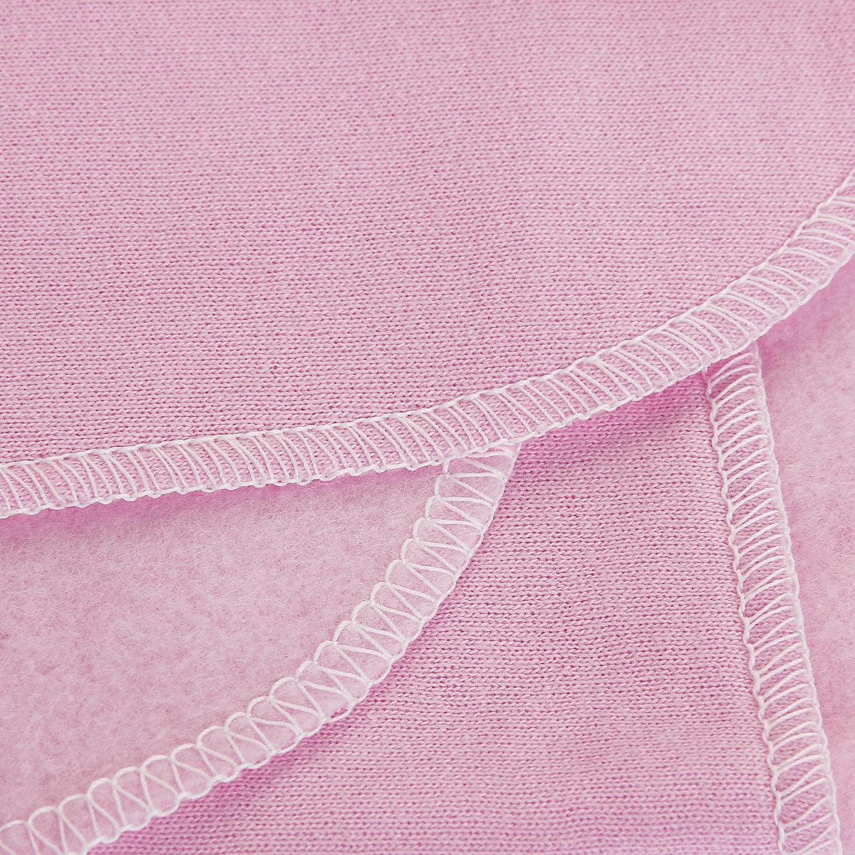"""Пеленка детская """"Трон-Плюс"""", цвет: розовый, 120 см х 90 см"""