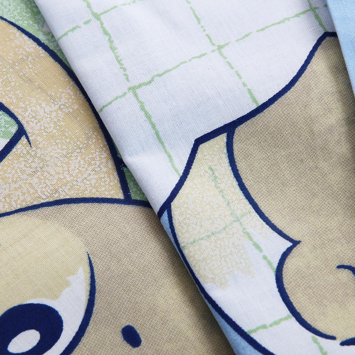 """Комплект детского постельного белья """"Лежебоки"""", цвет: голубой, 3 предмета ( 315/1 )"""