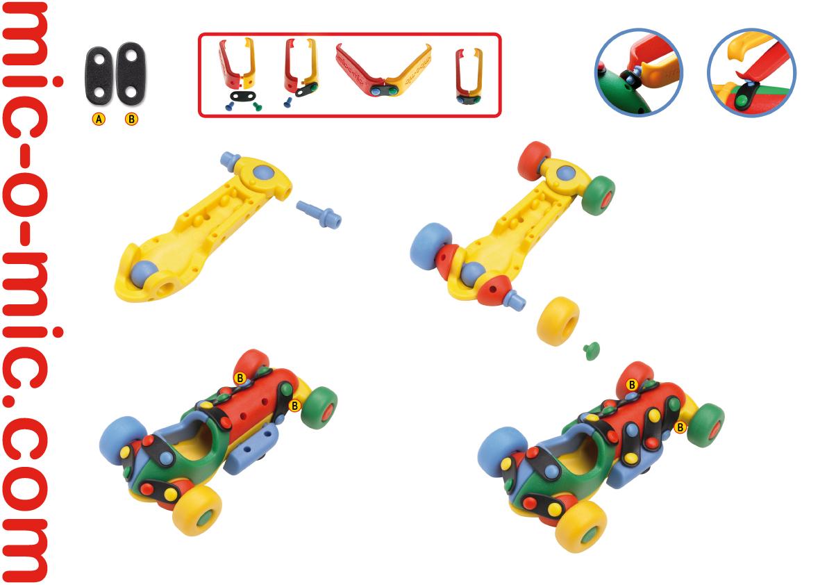 Mic-o-Mic Конструктор Машинка гоночная ( 089.178 )