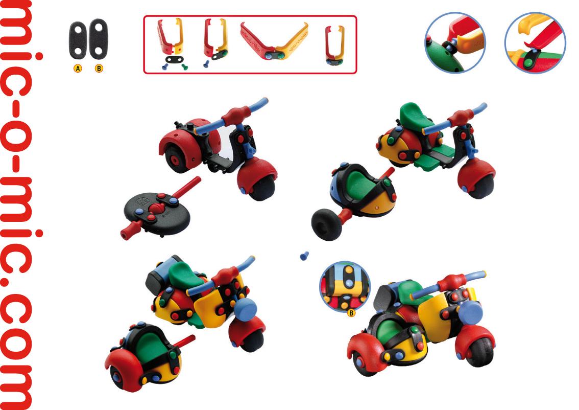 Mic-o-Mic Конструктор Мотоцикл с коляской ( 089.017 )