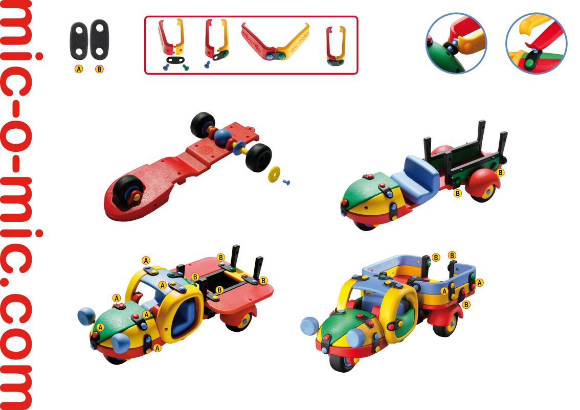 Mic-o-Mic Конструктор Грузовик трехколесный ( 089.024 )