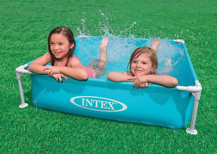 """Бассейн каркасный """"Intex"""", 122 см х 30 см,оранжевый"""
