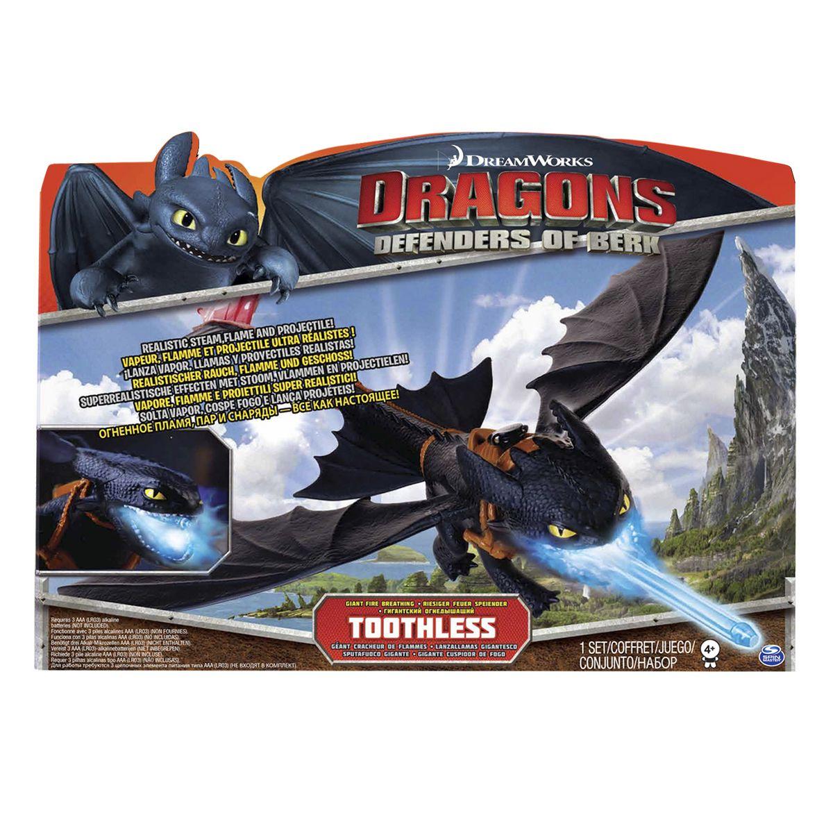 """Игрушка Dragons """"Дракон Беззубик"""", выдыхающий пар"""