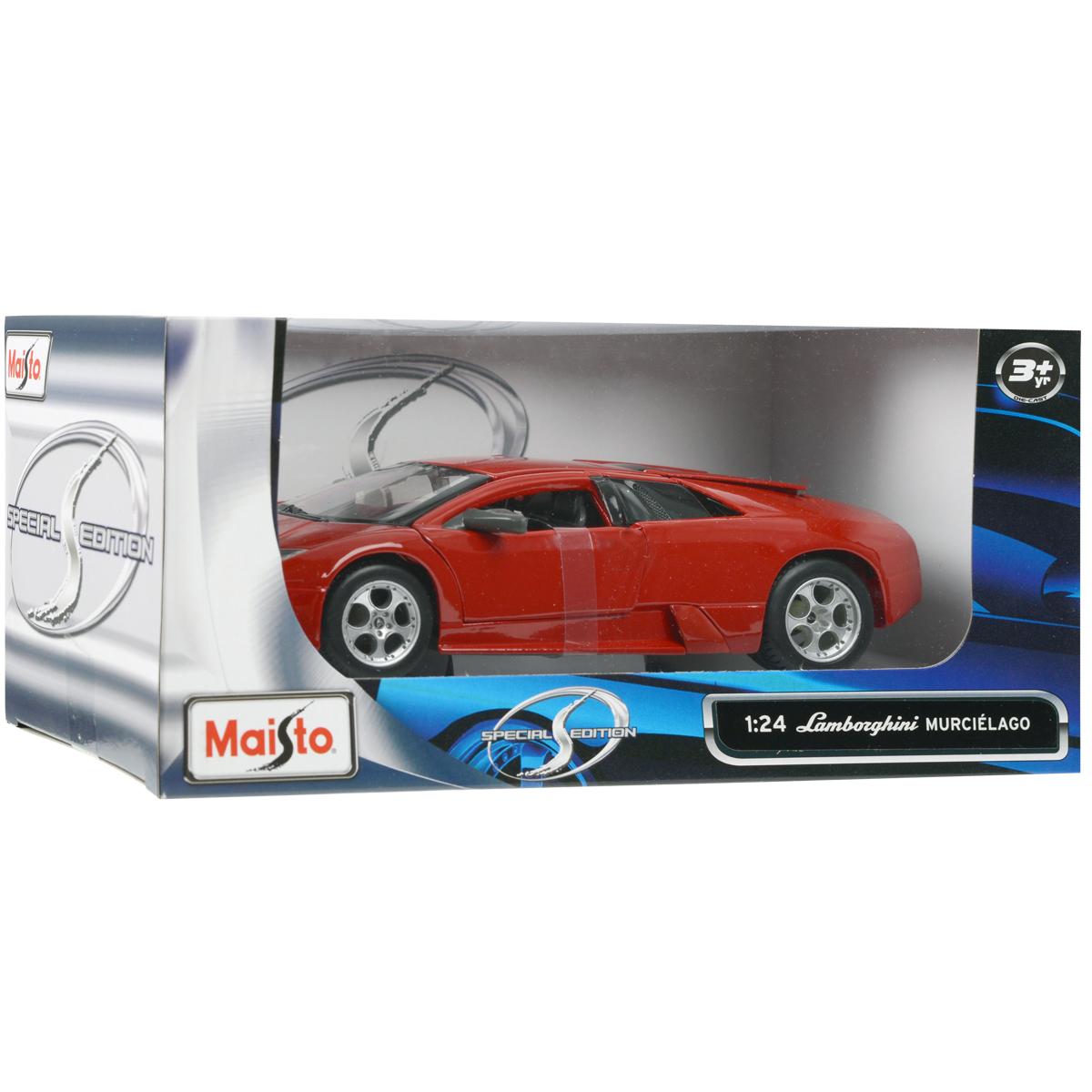 """Коллекционная модель """"Lamborghini Murcielago"""", цвет: красный, масштаб 1/24"""