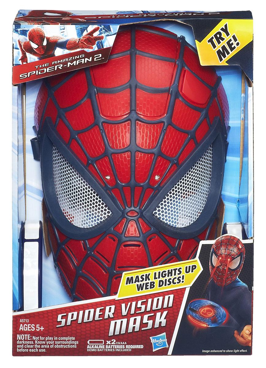 """Электронная маска Spider-man """"Человек-паук"""", цвет: красный, черный"""
