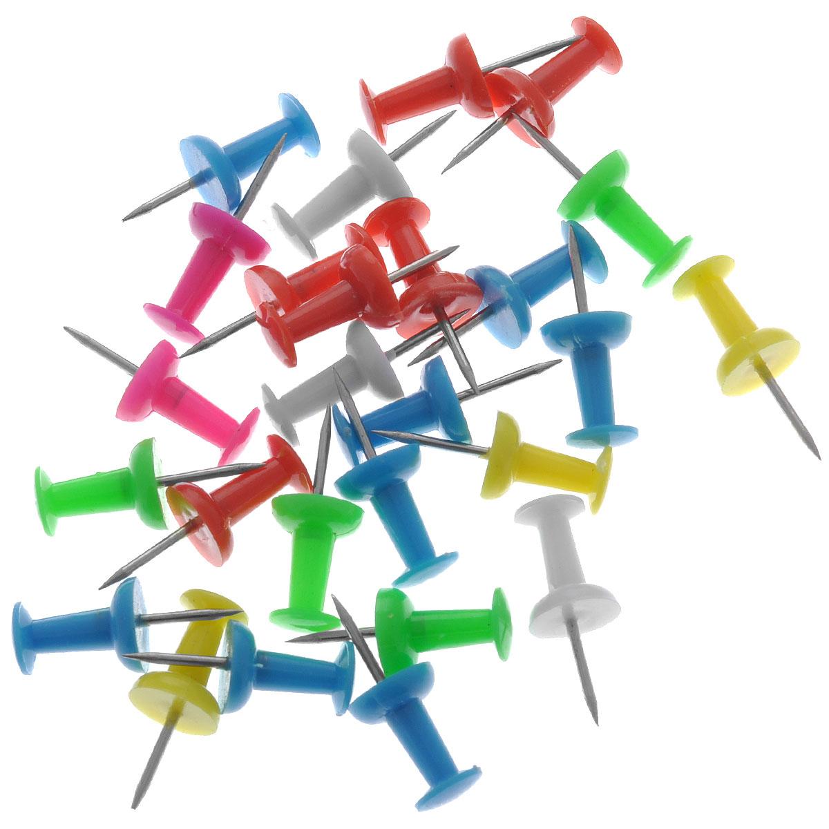 """Кнопки-гвоздики канцелярские """"Maped"""", цветные, 25 шт"""