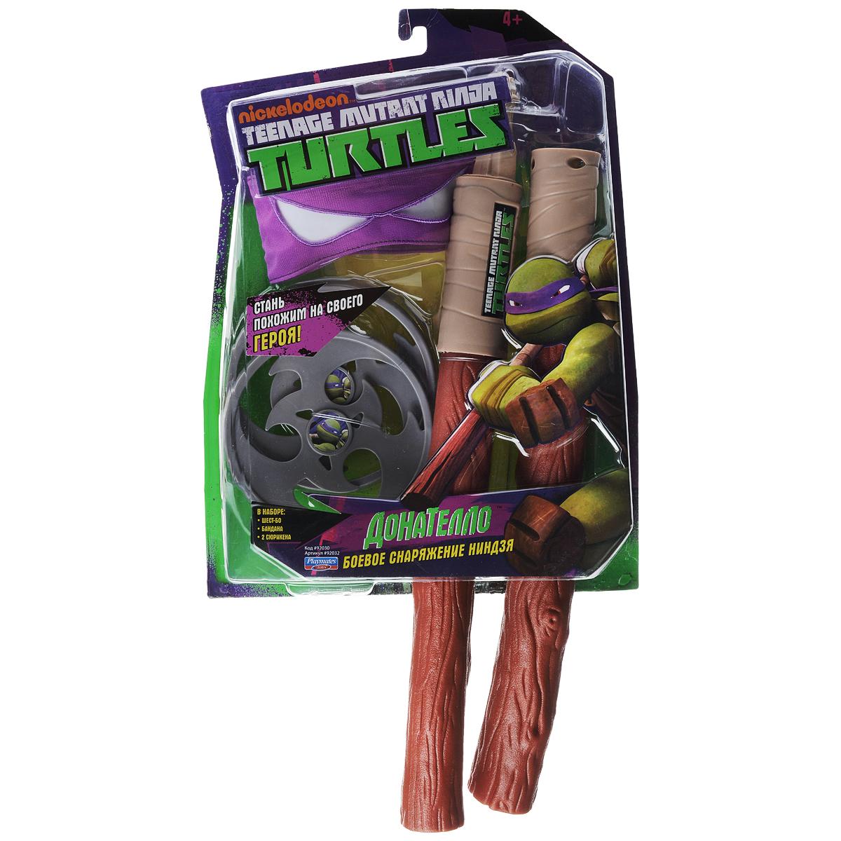 """Игровой набор Turtles """"Боевое снаряжение Черепашки-Ниндзя: Донателло"""", 4 предмета"""