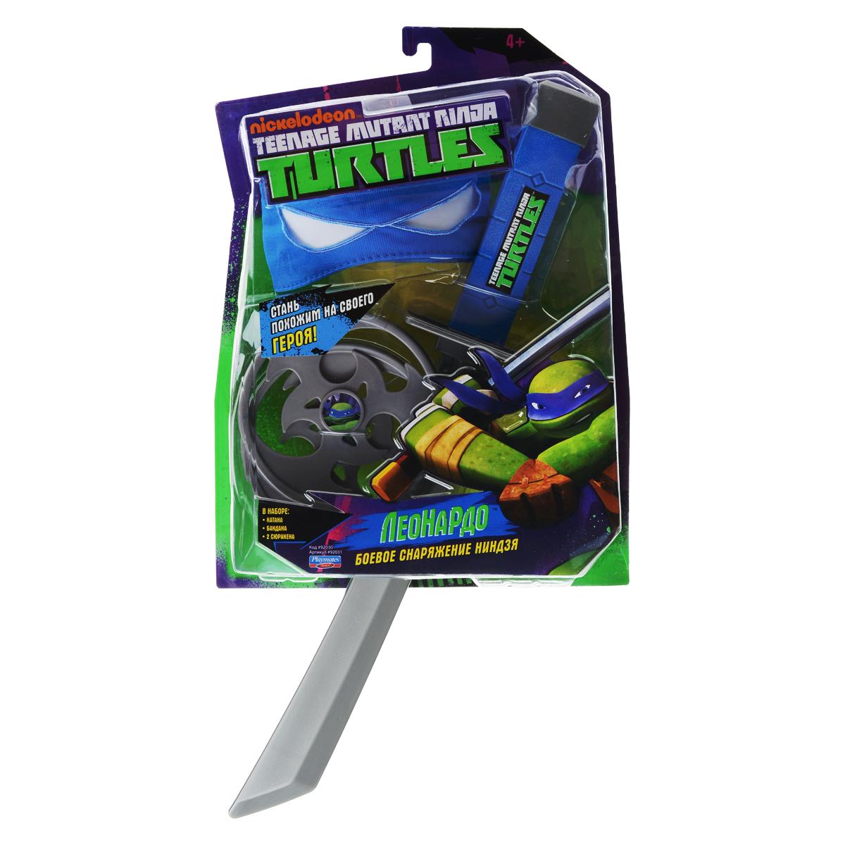 """Игровой набор Turtles """"Боевое снаряжение Черепашки-Ниндзя: Леонардо"""", 4 предмета"""