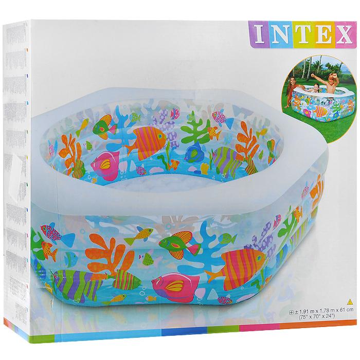 """Бассейн надувной INTEX """"Ocean Reef Shade Pool"""" 191х178х61см"""