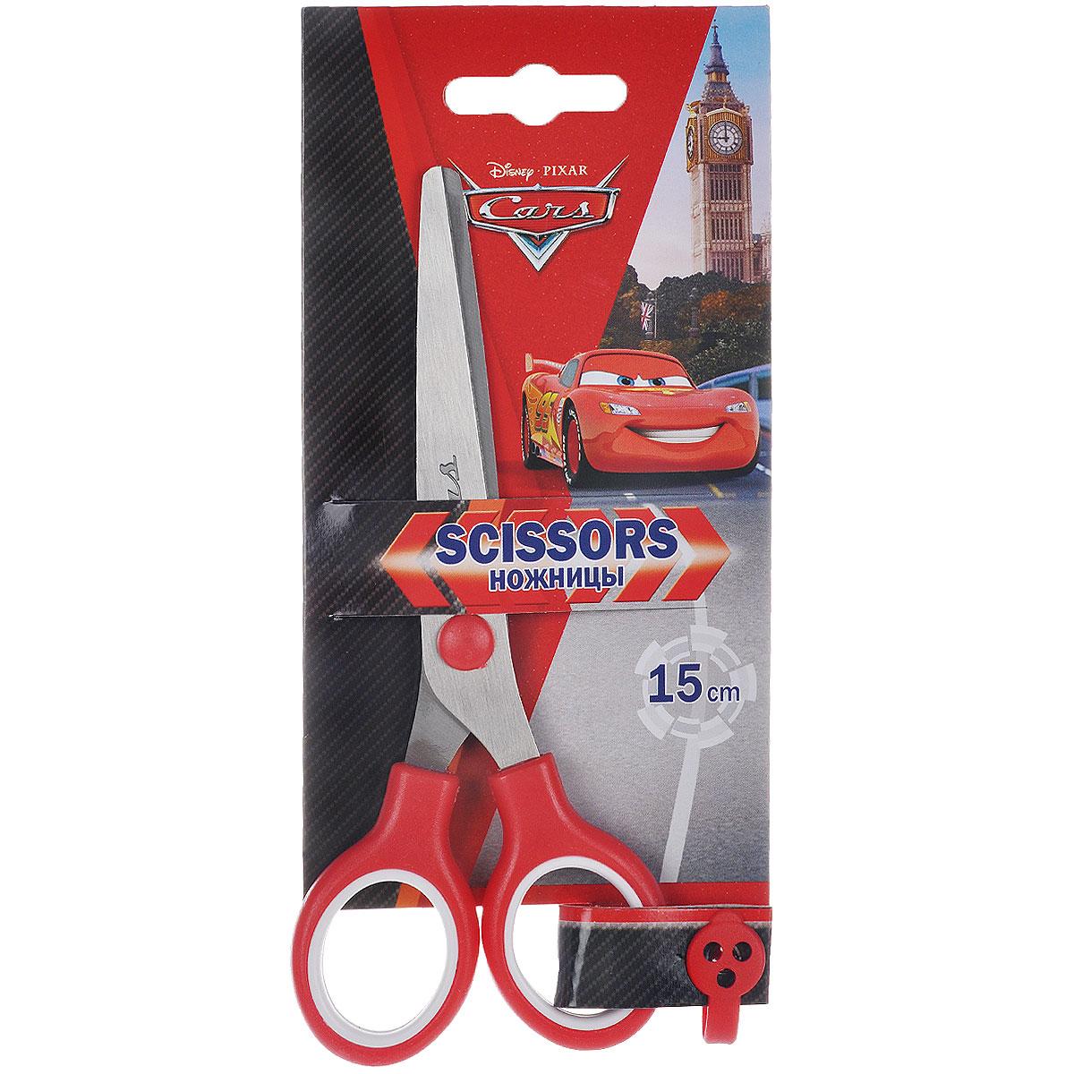 """Ножницы канцелярские """"Cars"""", цвет: красный, белый, 15 см"""