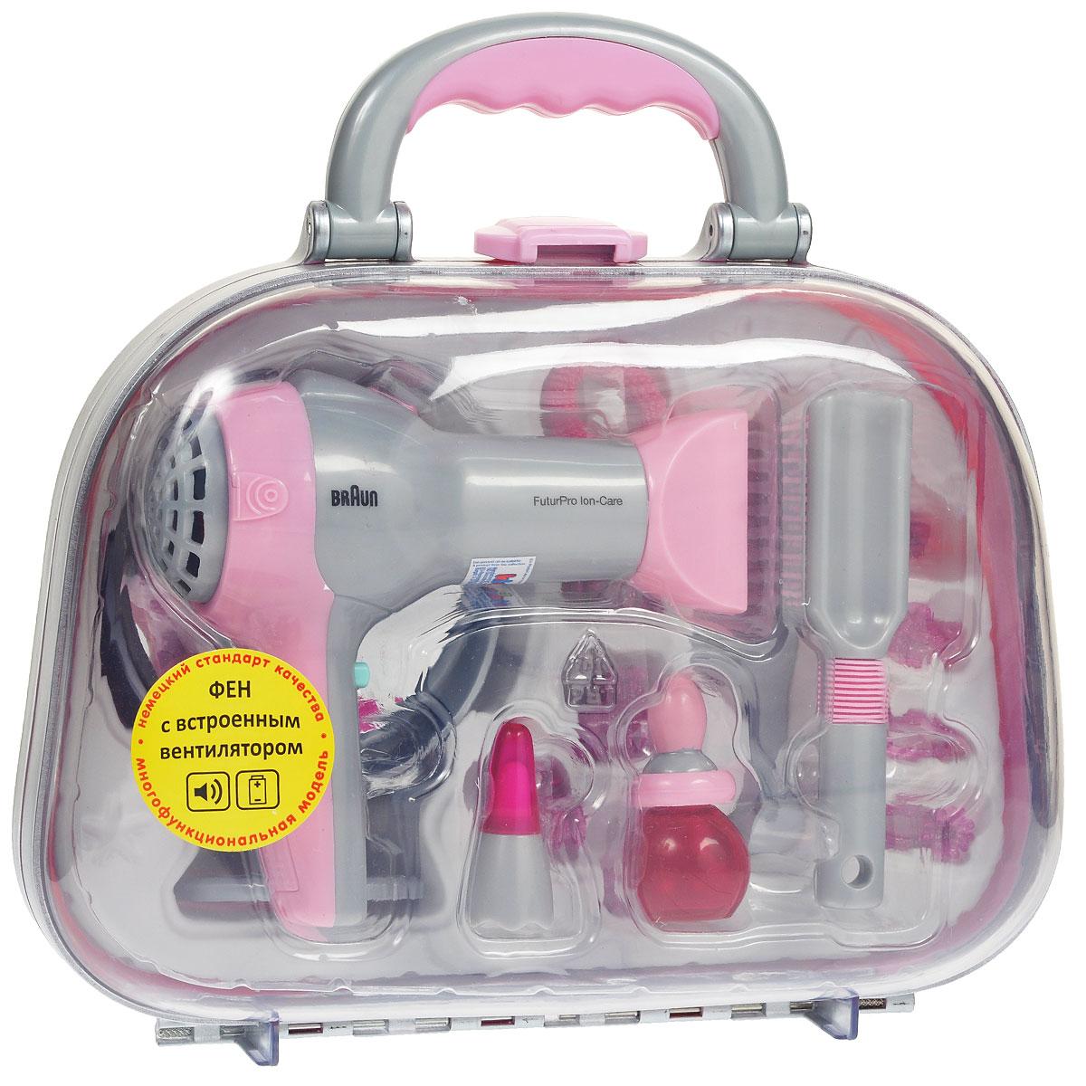 """Игровой набор Klein """"Braun. Парикмахер"""", в чемодане, 15 предметов"""