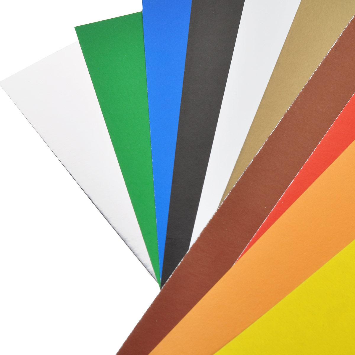 Набор цветного мелов. картона ACTION! ANIMAL PLANET, ф. А4, 10 листов,10 цветов(8цв.+золото и серебро), 2 шт. в упаковке, 2 дизайна, (ACTION!)