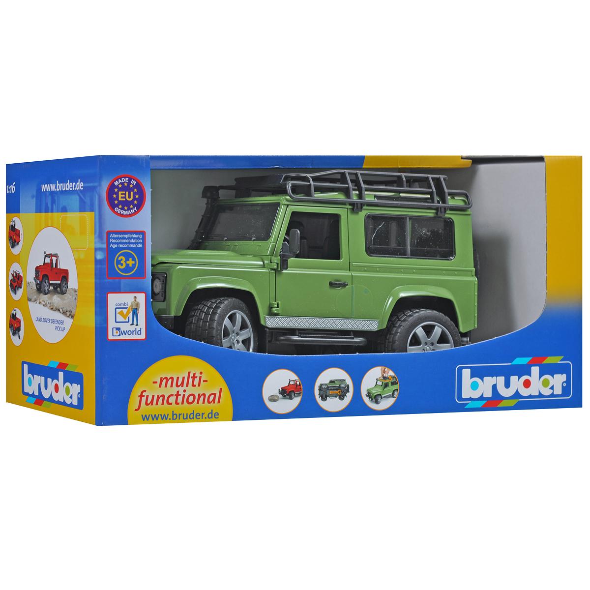 Bruder Внедорожник Land Rover Defender цвет зеленый