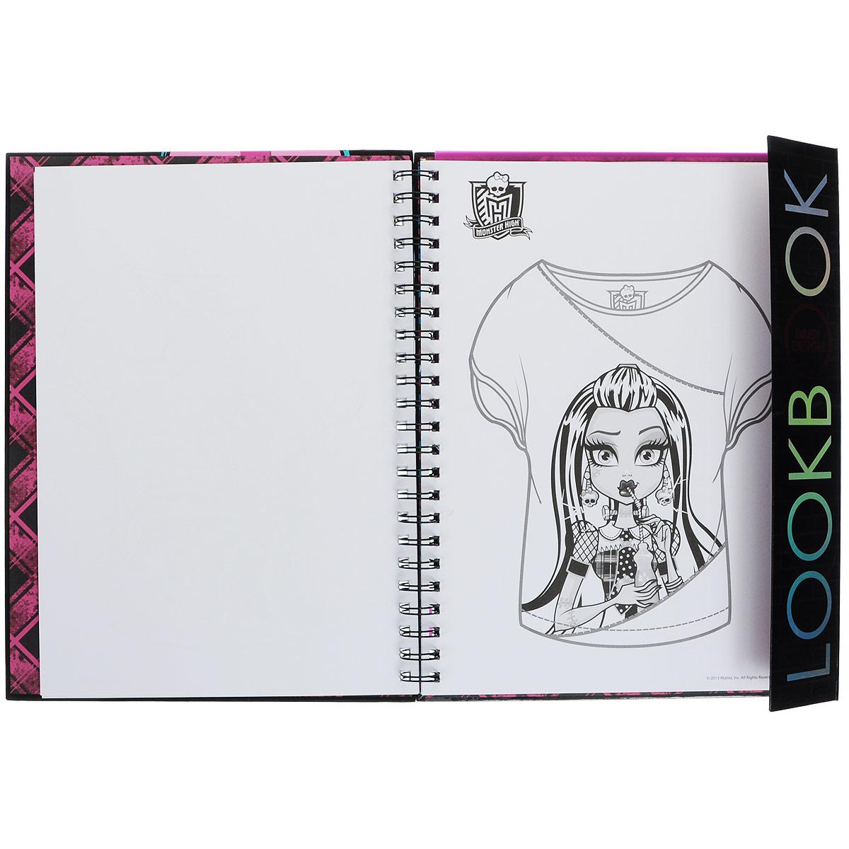 """Книга-раскраска для девочек Daisy Design """"Monster High. Создай стильный образ"""" ( 53566 )"""