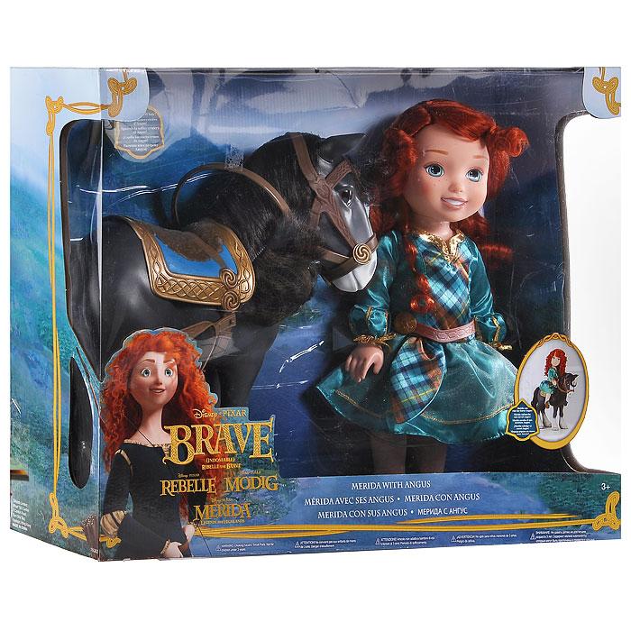 Disney Princess Игровой набор с мини-куклой Малышка Мерида и конь