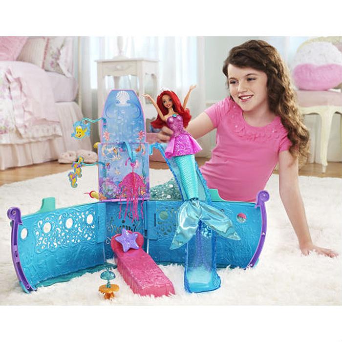 Disney Princess Дом для кукол Принцесса Русалочка Волшебный корабль Ариэль