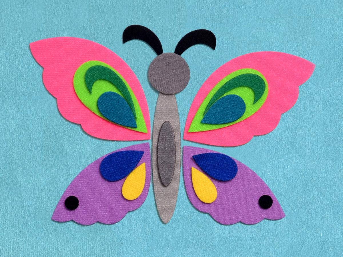 Аппликации из ткани бабочки схемы