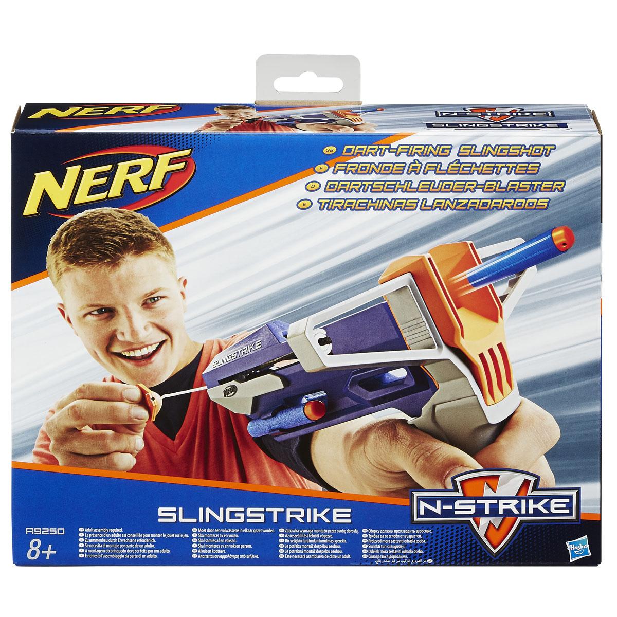 "Nerf Рогатка ""Slingstrike"", со снарядами"